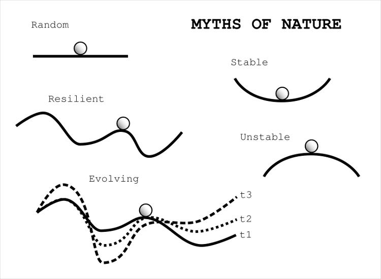 Myths of Nature: a reflection on our tacit assumptions