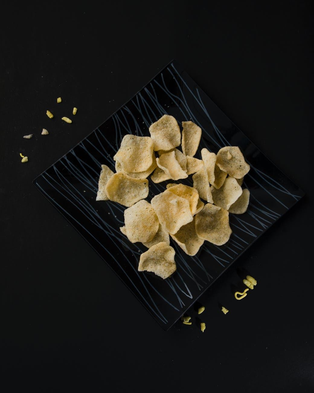 top view photo of chips