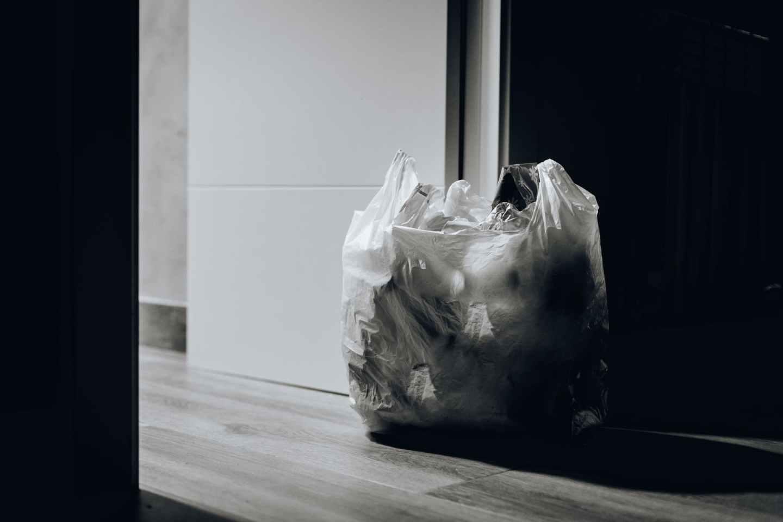 trash near door
