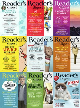 Readers-Digest-USA-Full-Year-2018-Collection Reader's Digest USA - Full Year 2018 Collection