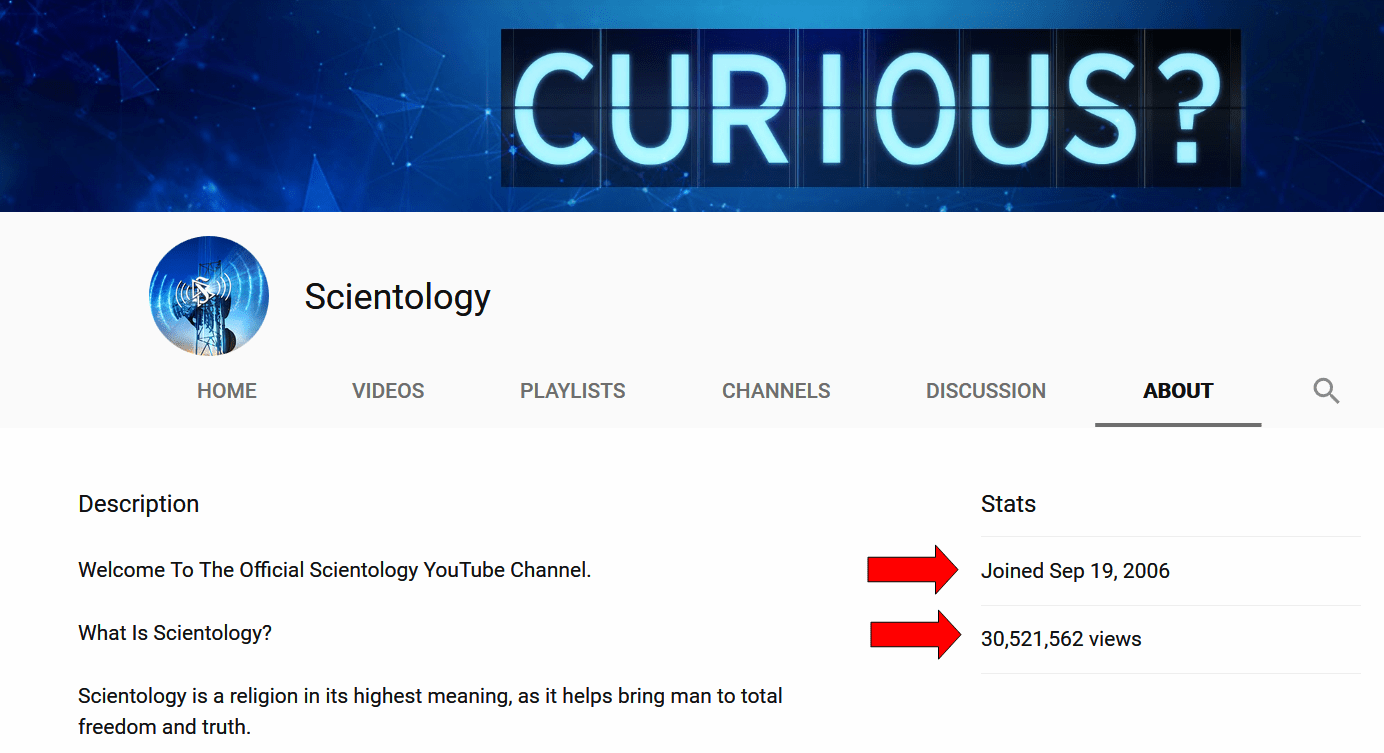 Scientology Television on YouTube: Statistics & Predictions