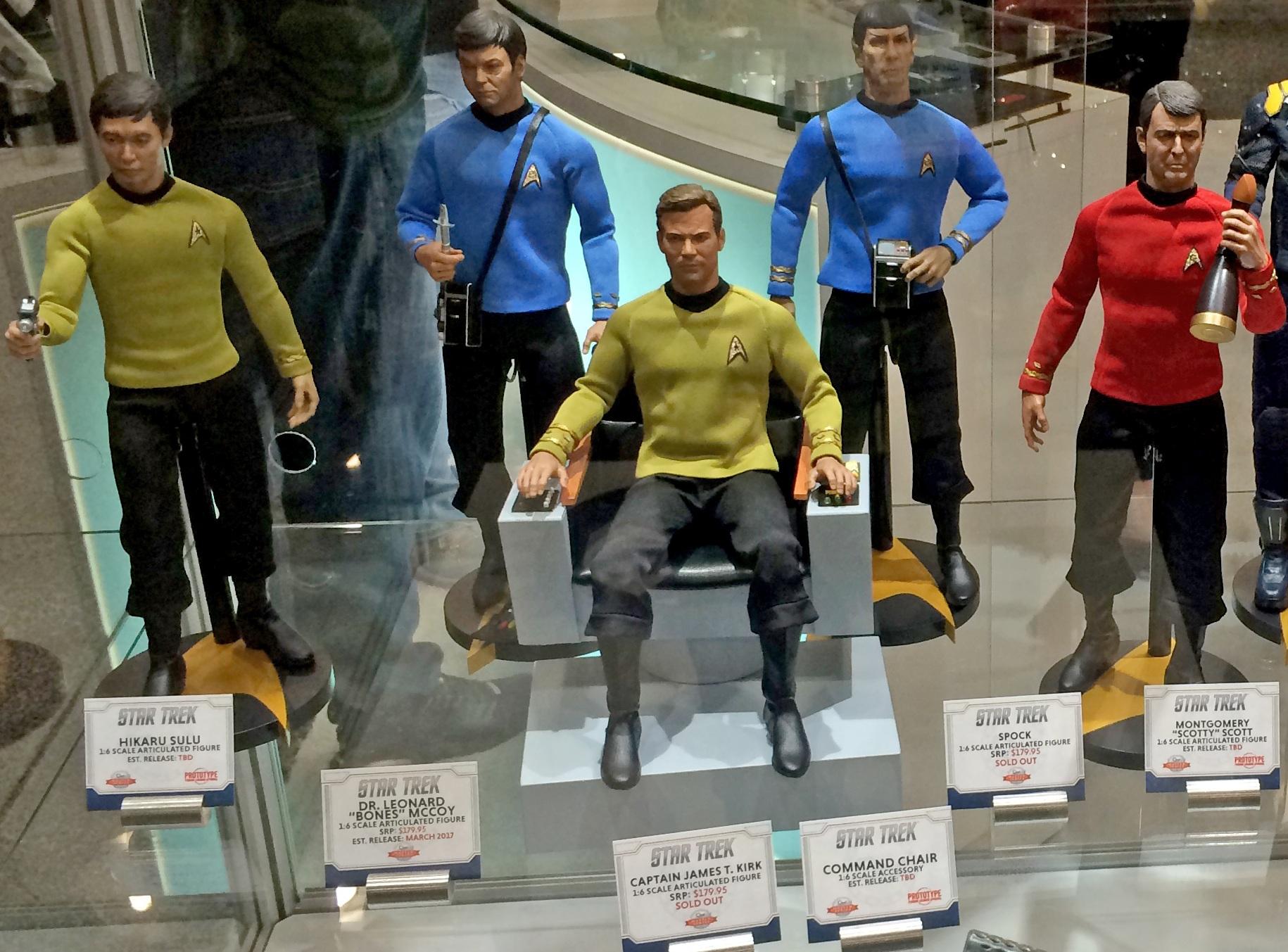 star trek captain s chair plans bed qmx unveils new tng and beyond 1 6 figures more adding sulu scotty to the tos line of