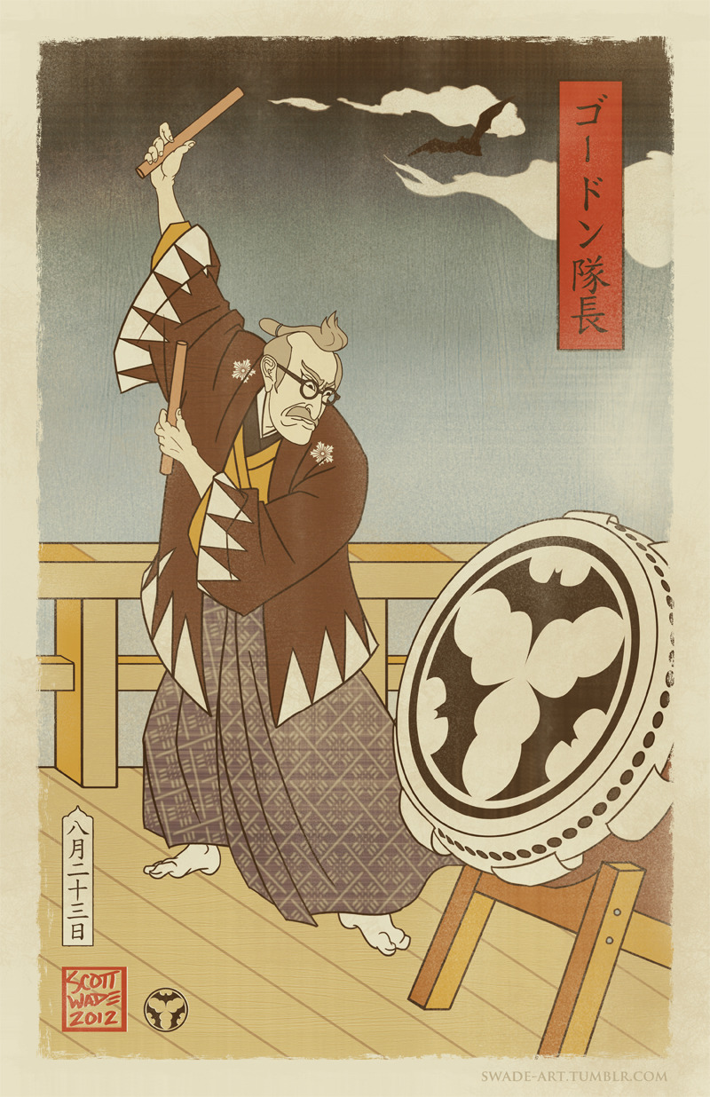 Sengoku Batman - Gordon Summons the Bat