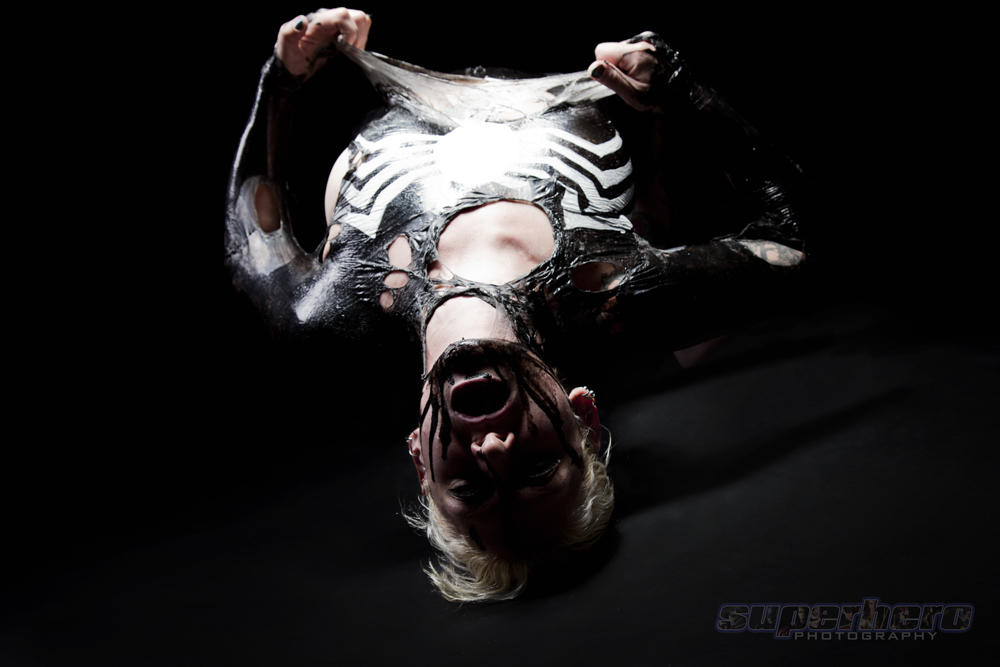 Freddie Nova Liquid Latex Venom Cosplay