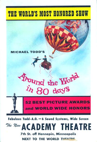 Le Tour Du Monde En Quatre-vingts Jours (film, 1956) : monde, quatre-vingts, jours, (film,, 1956), Affiche, Cinéma, Monde, Jours, (1956), SciFi-Movies