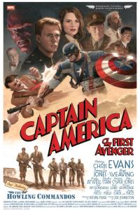 Paolo Rivera's Captain America movie poster, Captain America: The First Avenger. 2011. Gouache and acrylic on illustration board, 16 × 24''.