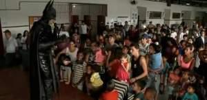 Batman speaks to eager students in Brazil