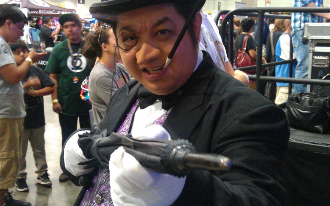 Eric Cajiuat, aka Jedi Elvis, also does cosplay as the Penguin.