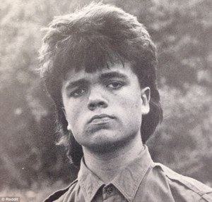 Young Peter Dinklage with a mullet.
