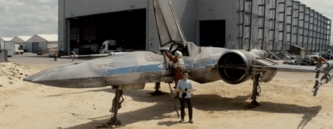 J.J.Abrams and the new X-Wing.