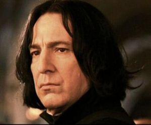 Alan Rickman as Severus Snape