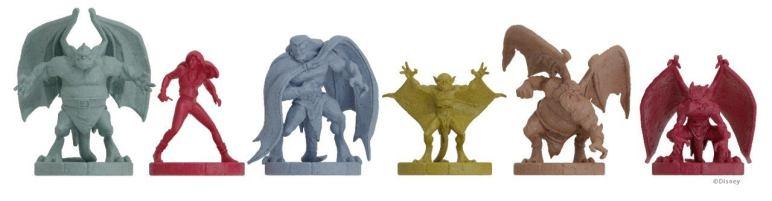 Disney Gargoyles game pieces