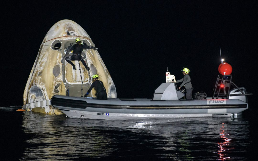 Space X's Crew Dragon Makes Successful Nocturnal Landing