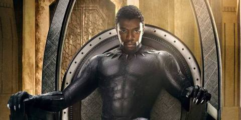 Chadwick Boseman as T'Challa, the Black Panther
