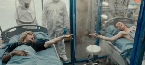 Katherine Langford as Mara and Charlie Plummer as Dylan