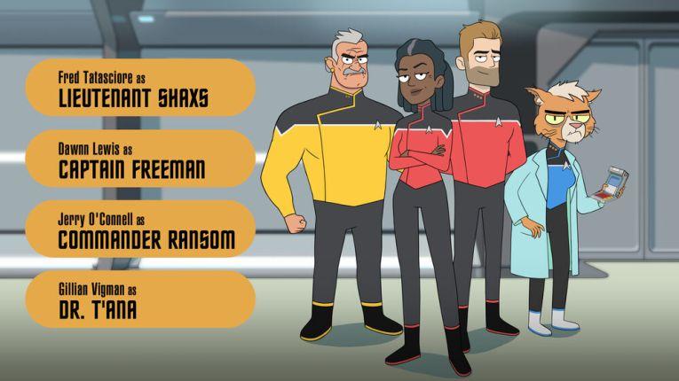 Lt Shaxs, Captain Freeman, Commander Ransom, Dr. T'Ana  Star Trek: Lower Decks