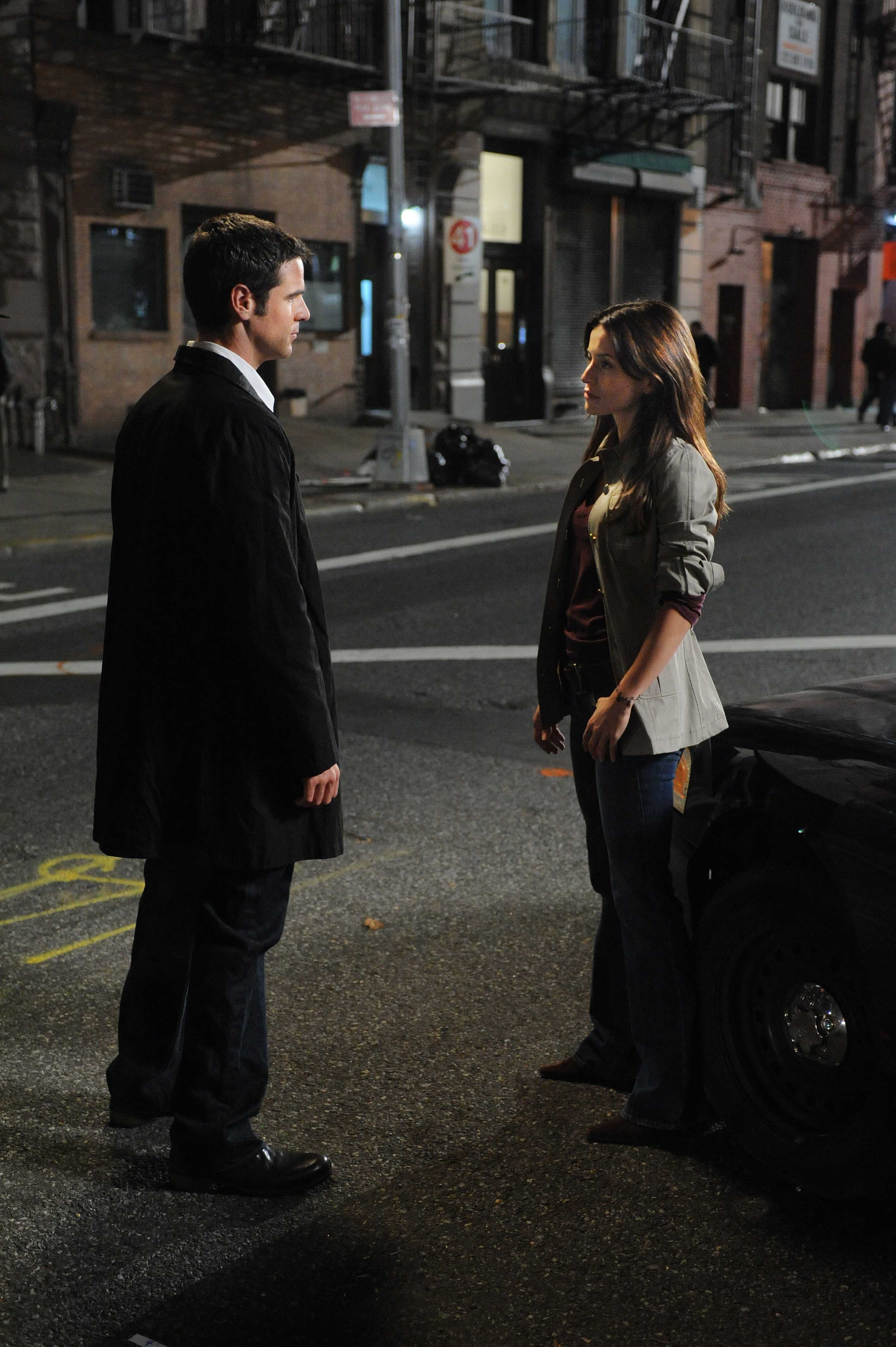 """Detective Don Flack (Eddie Cahill) and Detective Jessica Angell (Vaugier) in a scene from the CSI: NY episode """"Dead Inside."""" Photo by David M. Russell and copyright of CBS/Paramount TV"""
