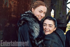 Game of Thrones - Season 7 L-R: Sophie Turner and Maisie Williams Photograph by Marc Hom on November 22, 2016 in Belfast.