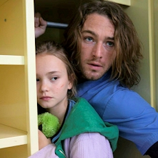 Bo and Tate hide in a closet.