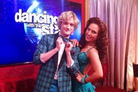 Charlie White is teamed with Sharna Burgess on Dancing With the Stars.