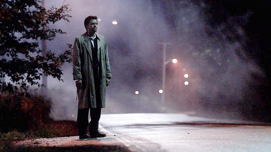 Castiel waits by the roadside while Dean sleeps.