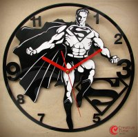Awesome Superhero Vinyl Wall Clocks - Sci-Fi Design