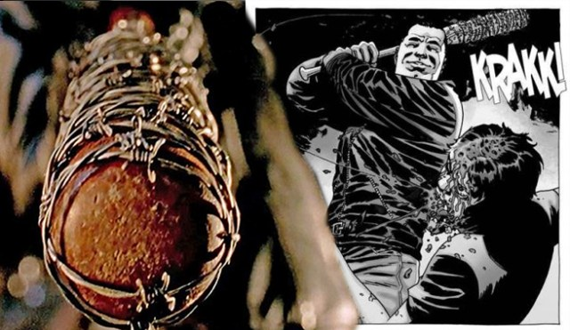 Lucille and the comic book Negan. Credit: Comicbook.com