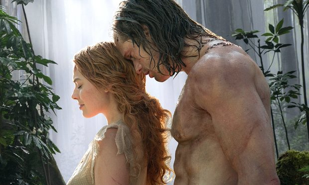 Margot Robbie and Alexander Skarsgård in The Legend of Tarzan (2016). Credit: Guardian.com