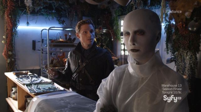 Defiance - Doctor Yewll (Trenna Keating) being interrogated by Earth Republic