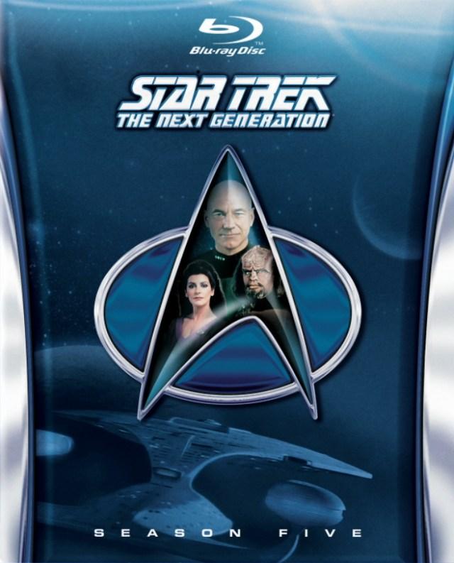 Star Trek The Next Generation Season 5 Cover Blu-ray Star Trek TNG season 5 Blu-ray cover revealed!