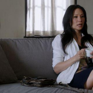 Lucy Liu short skirt as Watson Elementary Step Nine