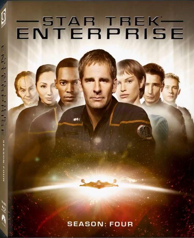 Enterprise Season 4 Blu-ray cover - Scott Bakula and Jolene Blalock