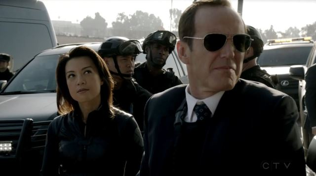 Agents of SHIELD - End of the Beginning - Ming-Na Wen as Melinda May and Clark Gregg as Coulson