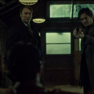 Hannibal Season 2 Episode 8 Su-zakana - Will and Hannibal with a gun