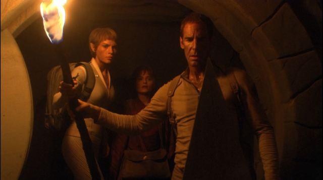 Enterprise season 4 Blu ray review - Scott Bakula as Jonathan Archer and Jolene Blalock as T'Pol on Vulcan