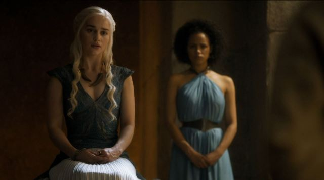 Game of Thrones 'The Mountain and The Viper' Review http://scifiempire.net Game Of Thrones - Dani questions ser Jorah Mormont