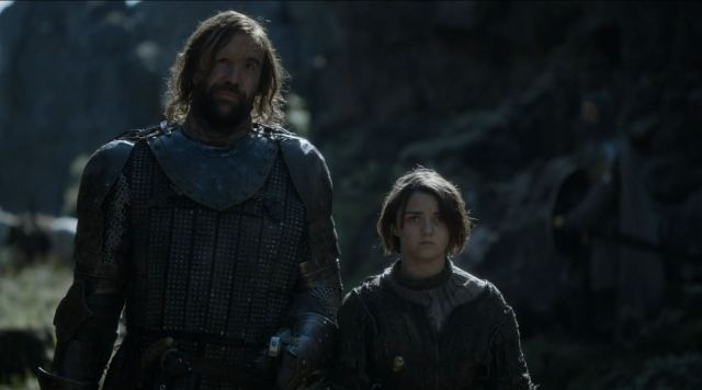 Game of Thrones 'The Mountain and The Viper' Review http://scifiempire.net Game Of Thrones - The hound and Arya Stark hear the news about Lysa's death