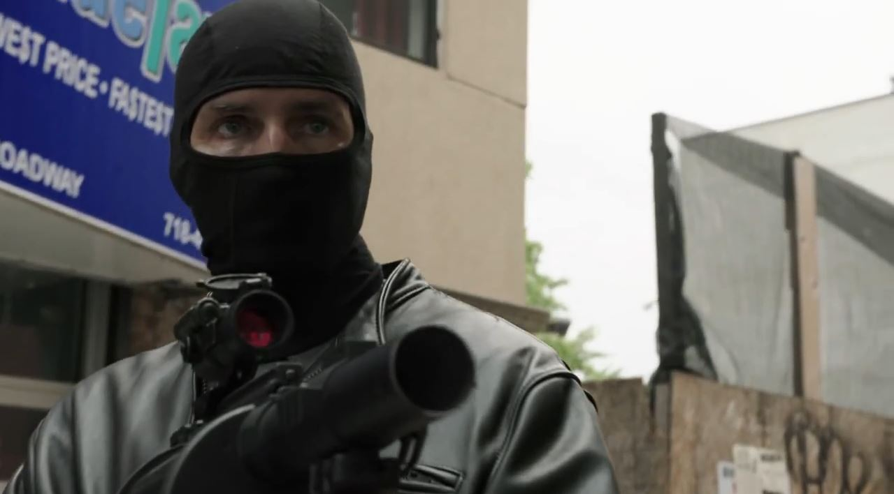 Person of Interest Season 4 Preview - Reese with 40mm grenade launcher