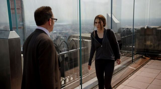 Finch talking to Claire - Person Of Interest S4Ep2 Nautilus Review