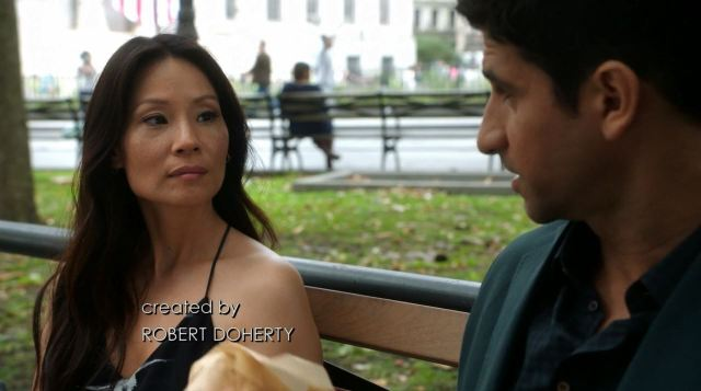 Joan Watson (Lucy Liu) on a date with Andrew Mittal - elementary s3ep1 review