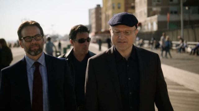 Elias talks to his accountant, Bruce Moran. Person of Interest S4Ep9 The Devil You Know Review