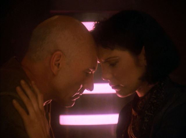 Star Trek TNG Season 7 Blu-ray Review. Picard and Ro Laren together