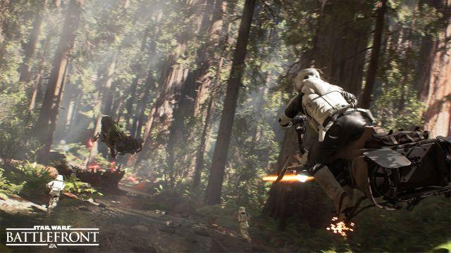 Star Wars Battlefront. Endor combat