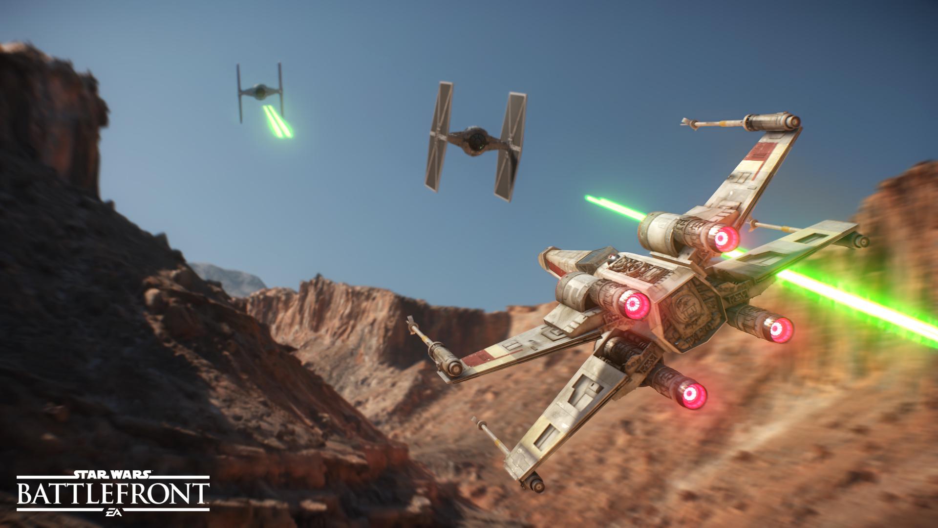 Star Wars Battlefront. X-wing versus Tie-fighter