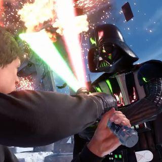 Darth Vader and Luke Skywalker duel on Hoth - Star Wars Battlefront Preview