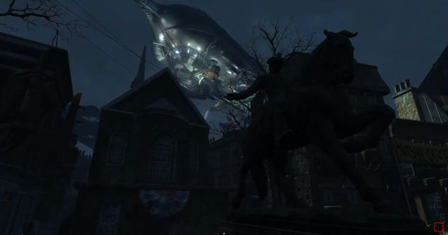 Fallout 4 - Boston with Blade Runner Blimp