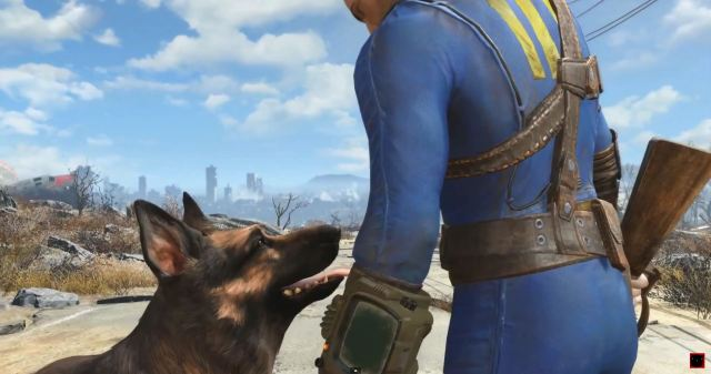 Fallout 4 - Dogmeat and Protagonist
