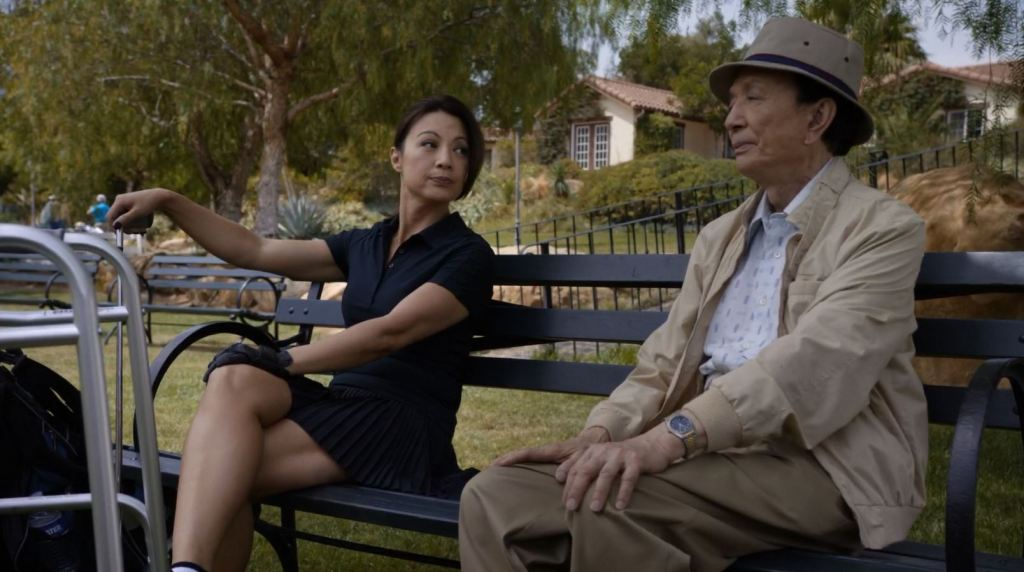 Agent May in golf Skirt. Ming-Na Wen in Agents of SHIELD S3Ep2 Purpose in the Machine Review