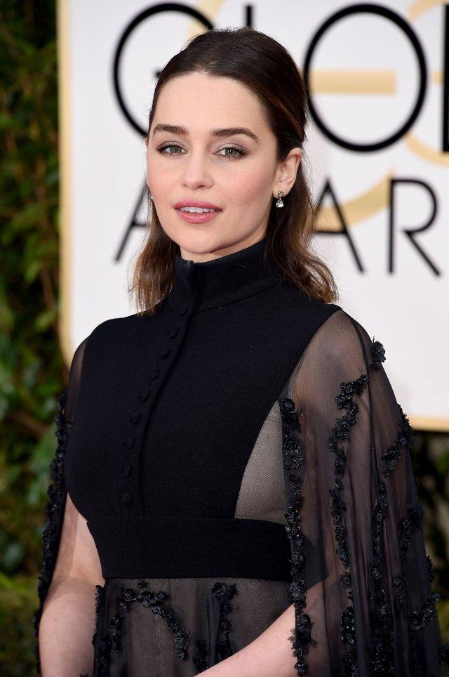 Emilia Clarke at Golden Globes Awards 2016