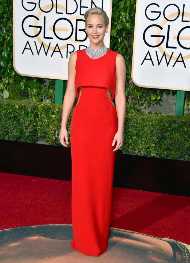 Jennifer Lawrence at Golden Globes Awards 2016
